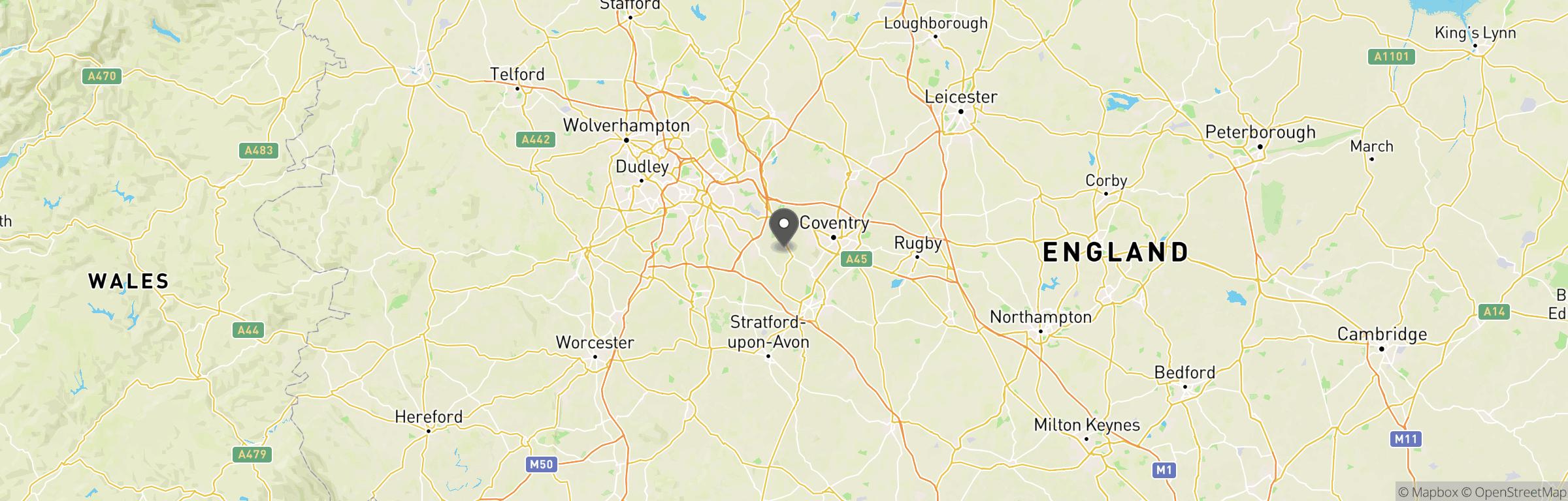 Location map of The Grange