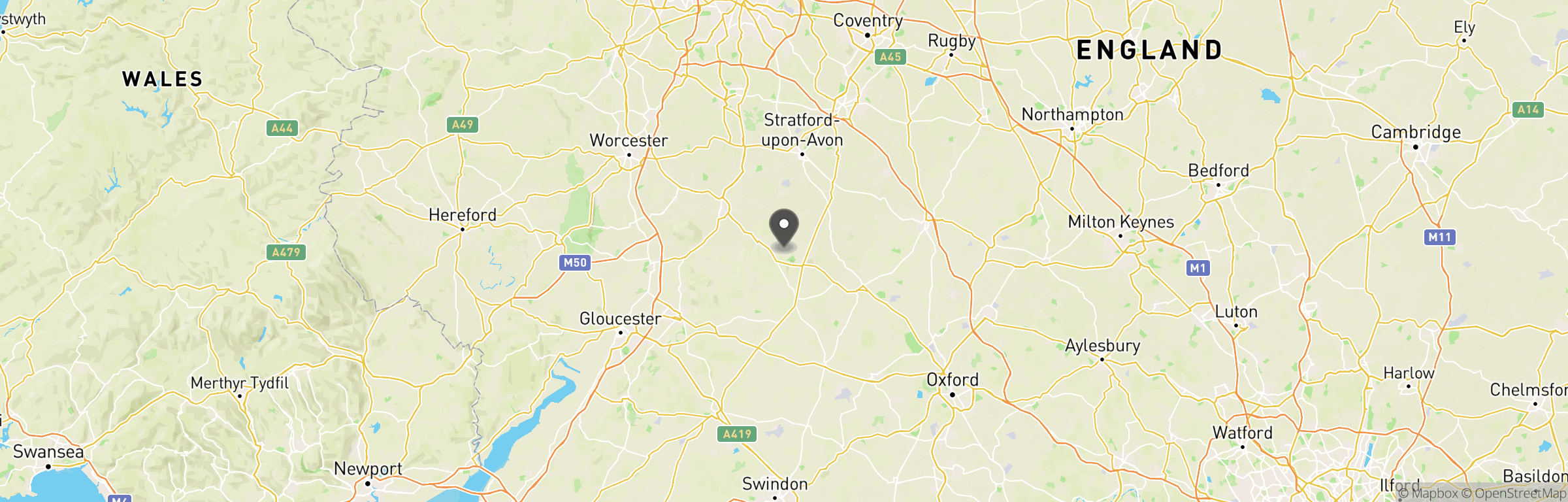 Location map of Cotswold Airsoft
