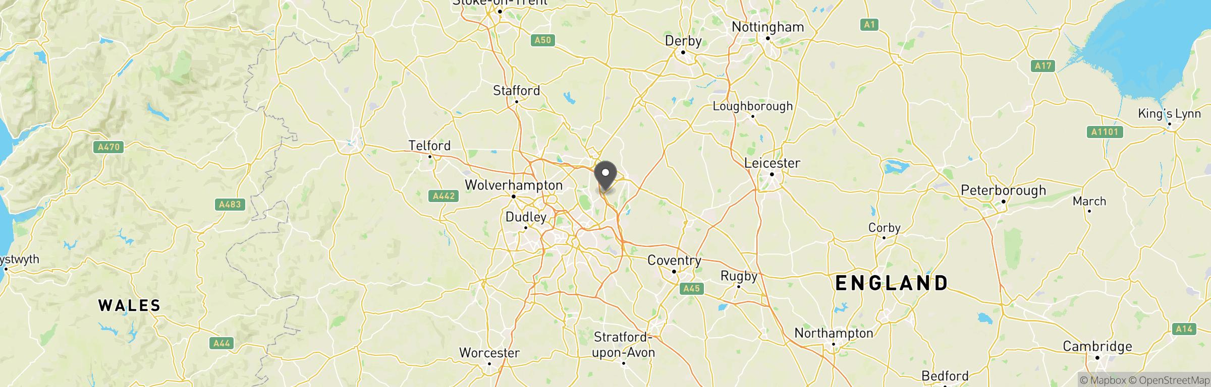 Location map of Fireball Squadron
