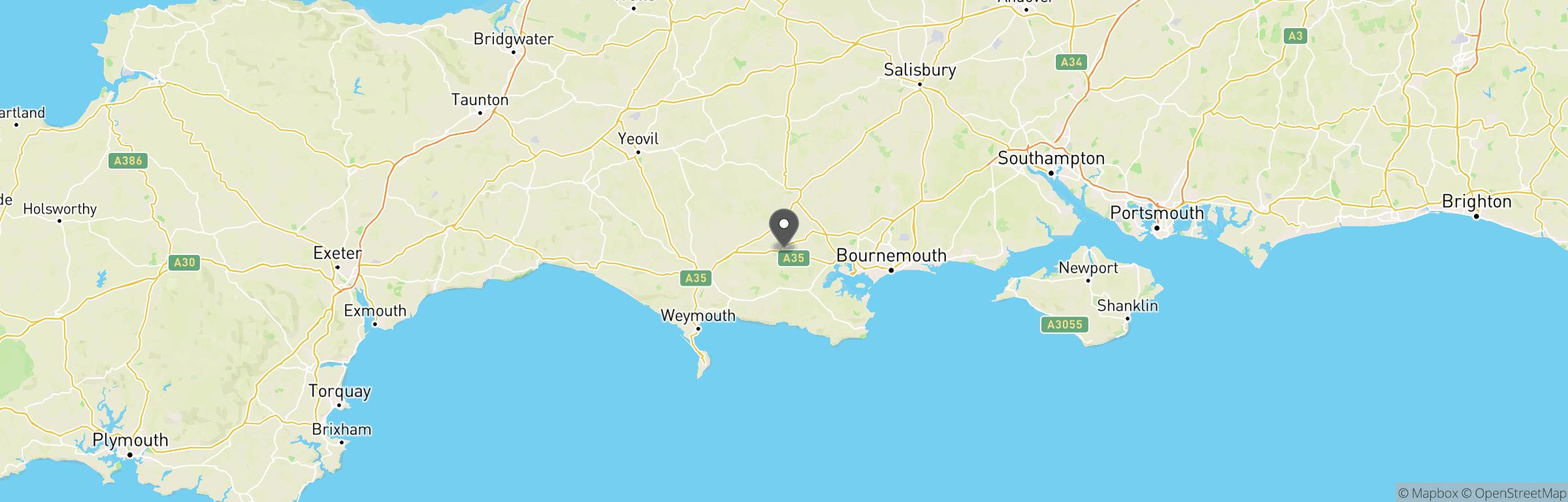 Location map of Bravo Romeo Airsoft