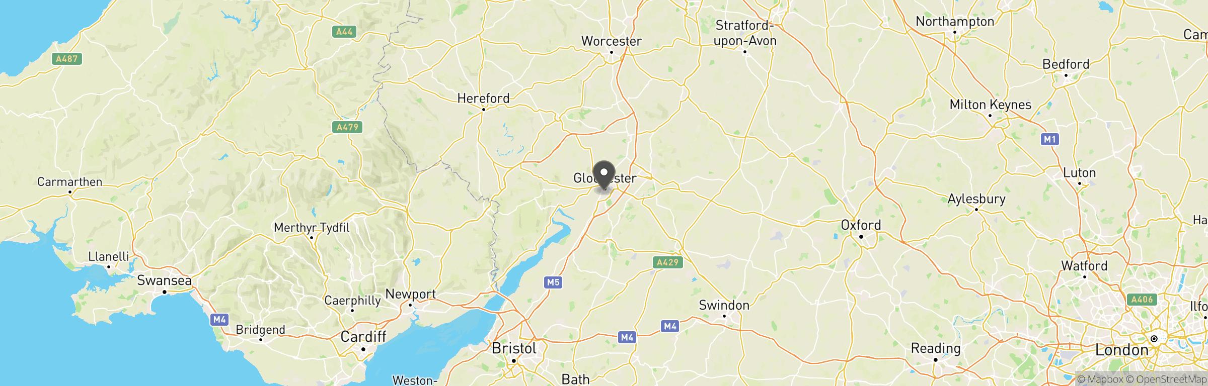 Location map of StrikeForce CQB