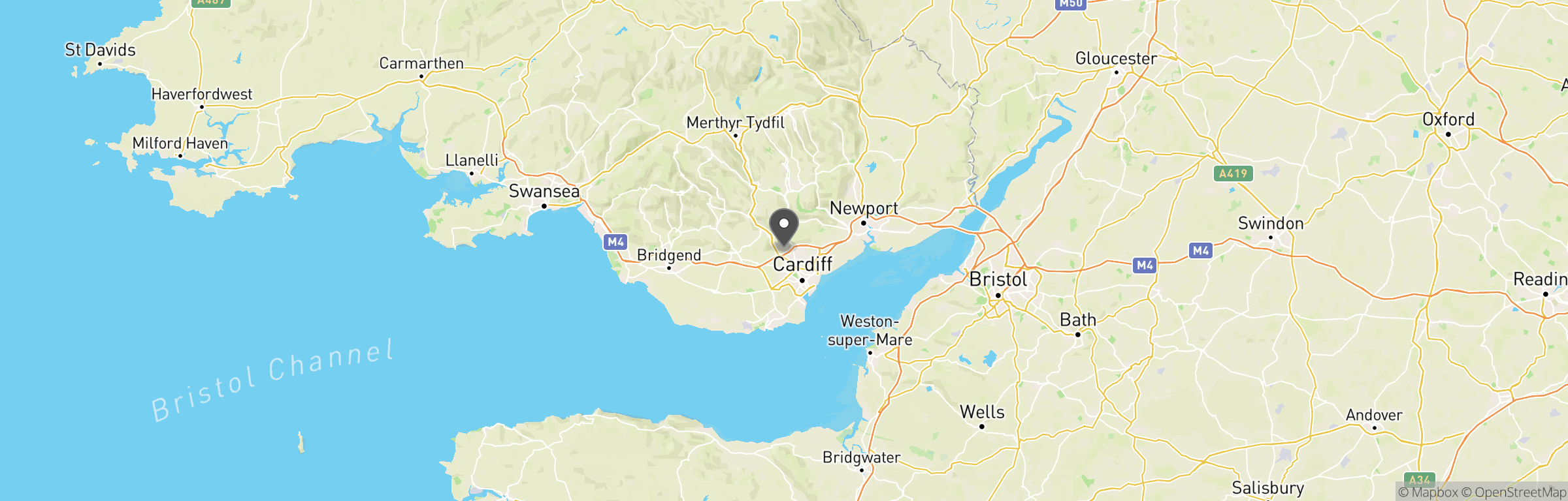 Location map of Airsoft Cardiff