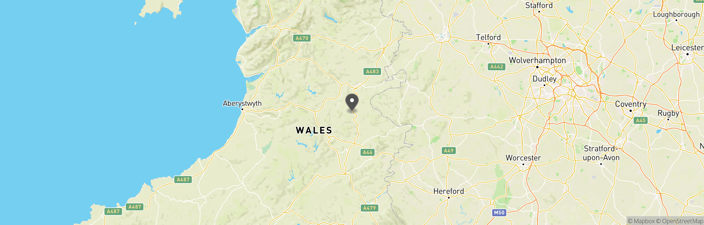 Location map of Midwales Airsoft