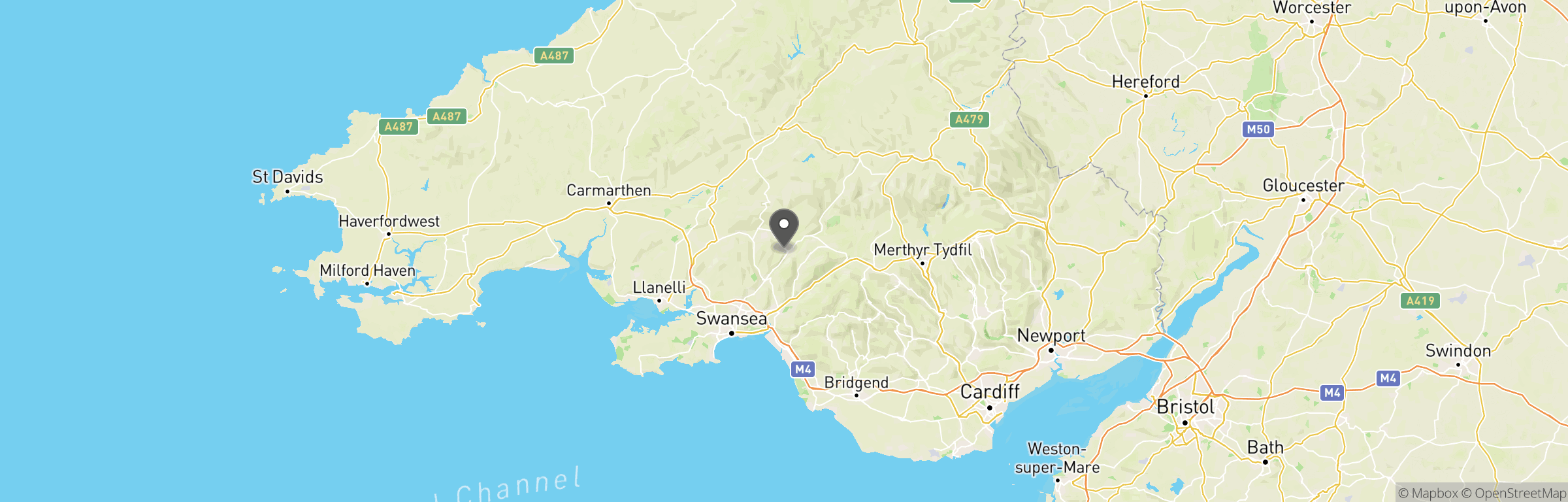Location map of Swansea Valley Airsoft