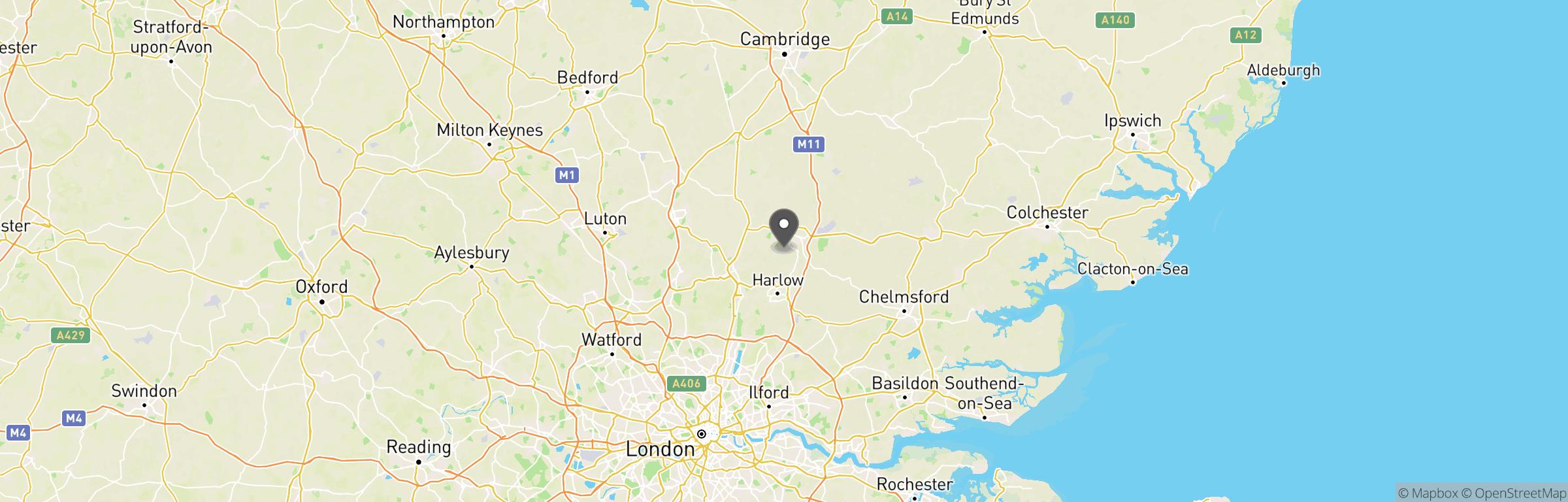 Location map of AWA Herts