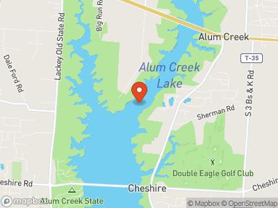 Alum Creek Reservoir Map