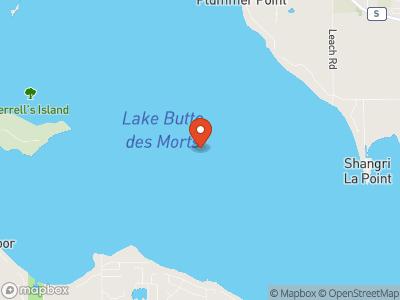 Lake Butte des Morts Map
