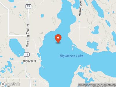 Big Marine Lake Map