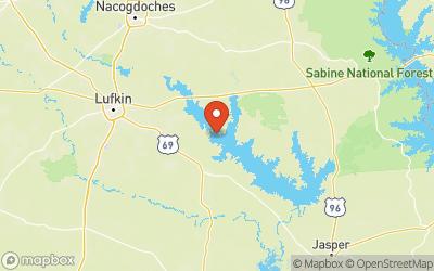 Sam Rayburn Reservoir Map