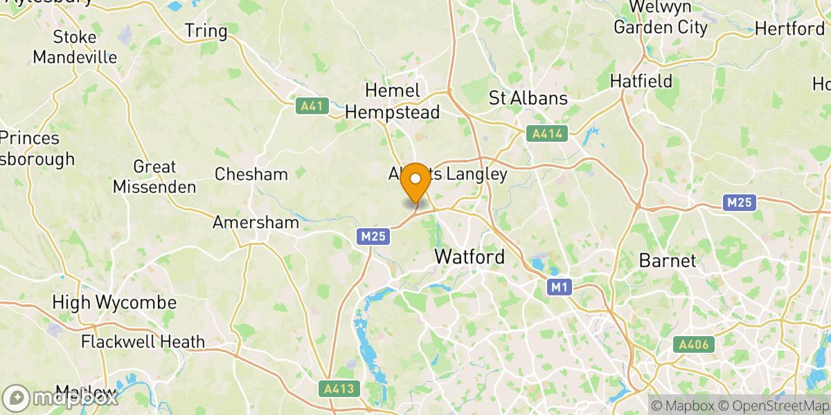 Gunman Airsoft Hertforshire Site Location