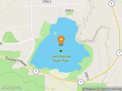 Sand Hollow Reservoir Map