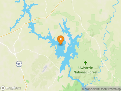 Badin Lake Map