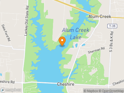 Alum Creek Reservoir Map