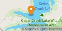 Cedar Creek Lake Map