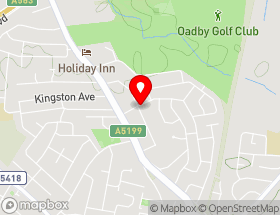 Map of Wigston Roofing