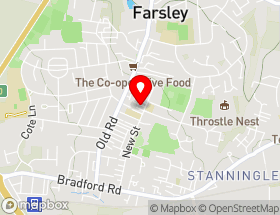 Map of Rodley Roofing