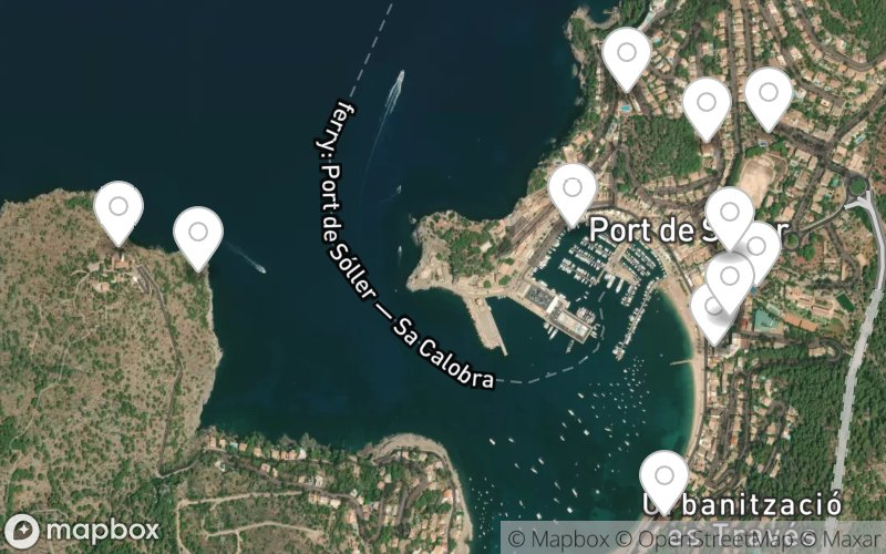 Stadtplan von Port de Soller