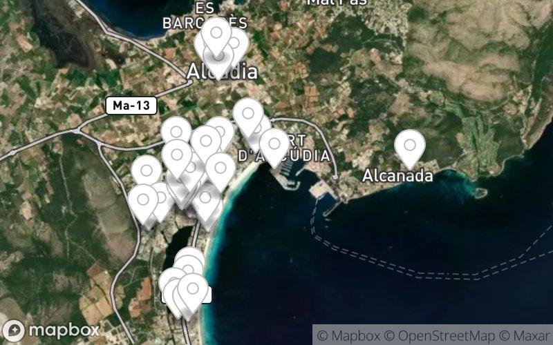 Stadtplan von Alcudia, Mallorca