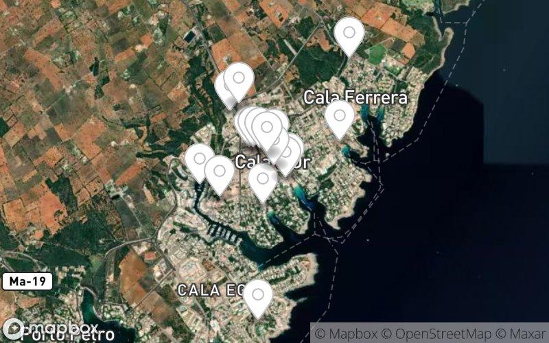 Stadtplan von Cala Dor
