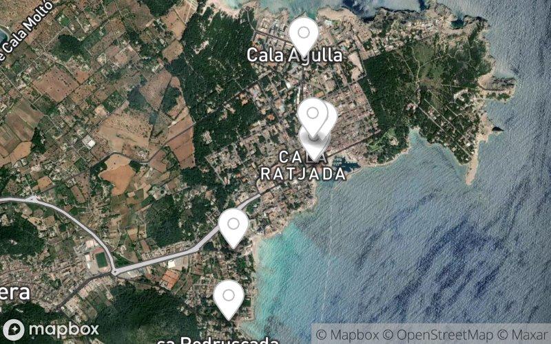 Stadtplan von Cala Ratjada – Ärzte und Apotheken
