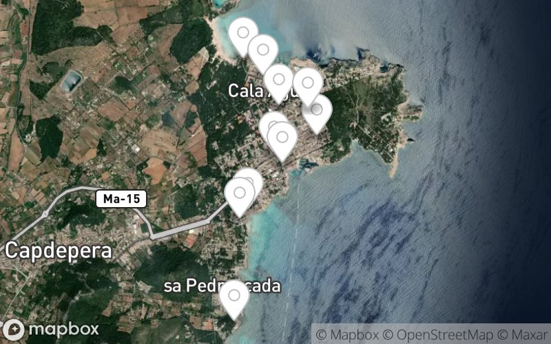 Haltestellen des Mini-Train in Cala Ratjada