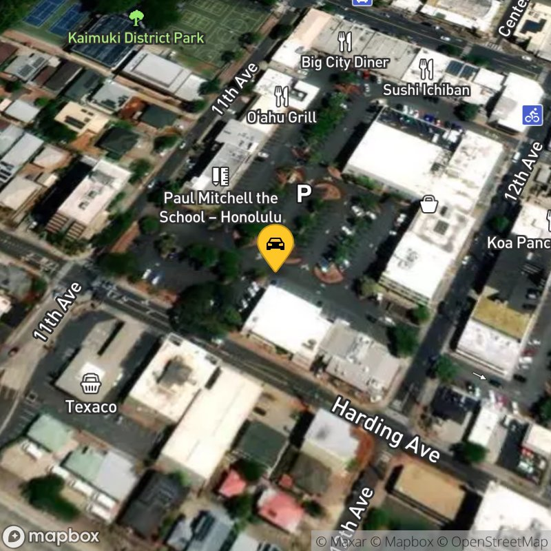 Satellite Map of the vehicle located at 3566 Harding Ave