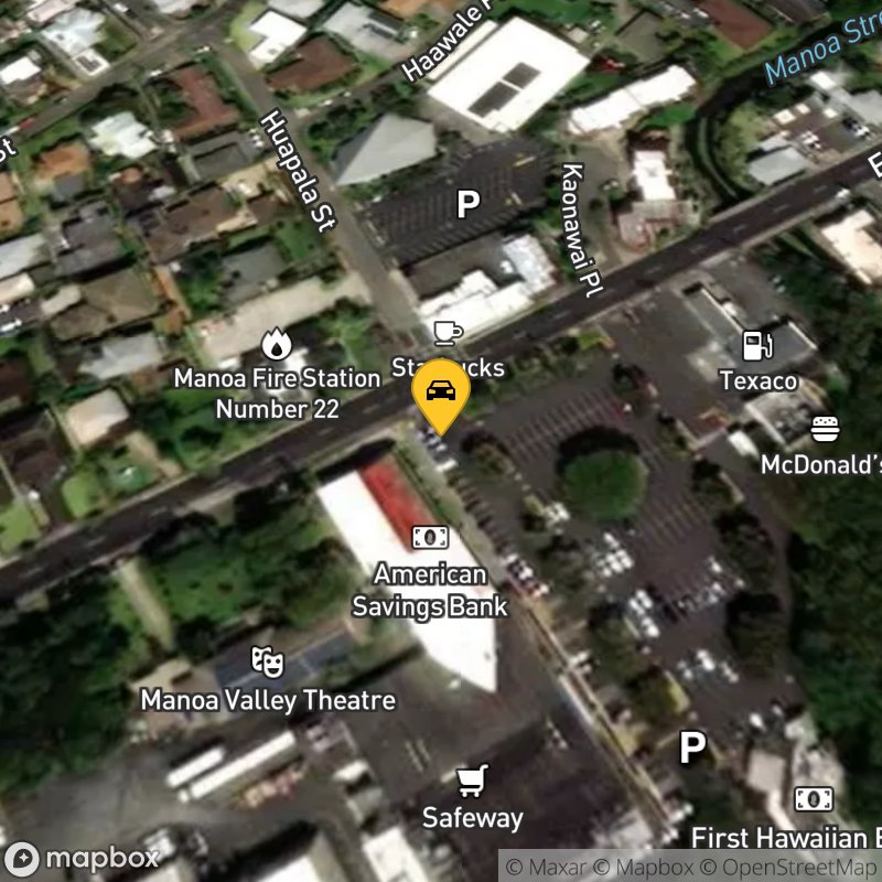 Satellite Map of the vehicle located at 2851 E Manoa Rd