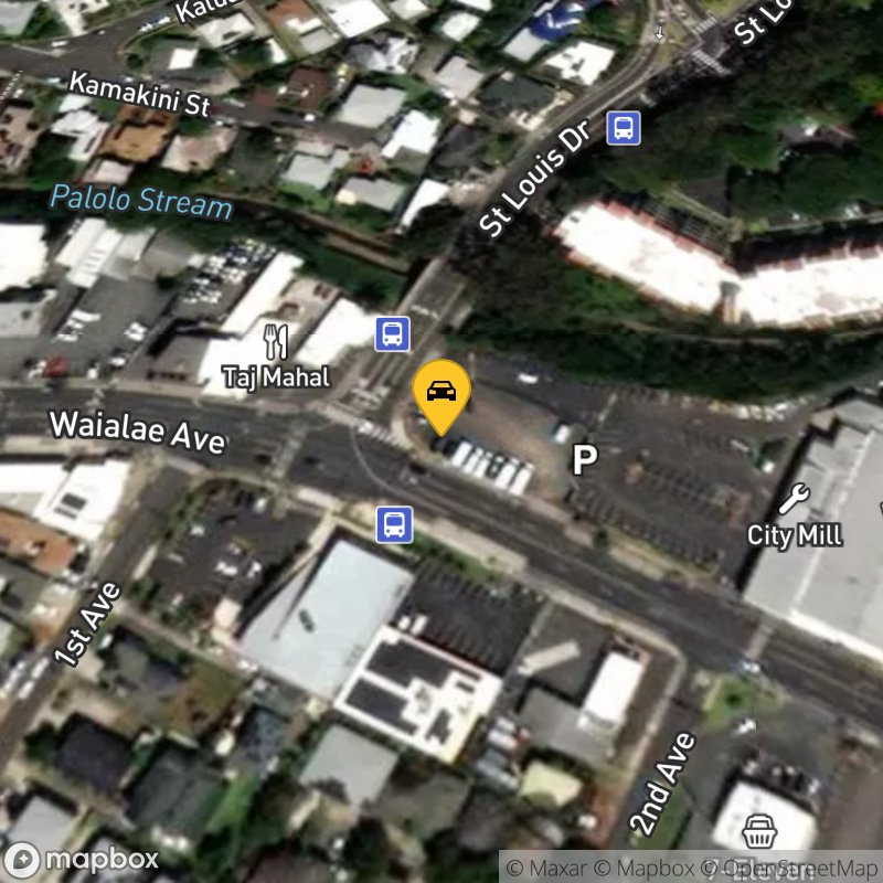 Satellite Map of the vehicle located at 3080 Waialae Ave