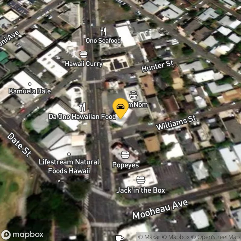 Satellite Map of the vehicle located at 707 Kapahulu Ave