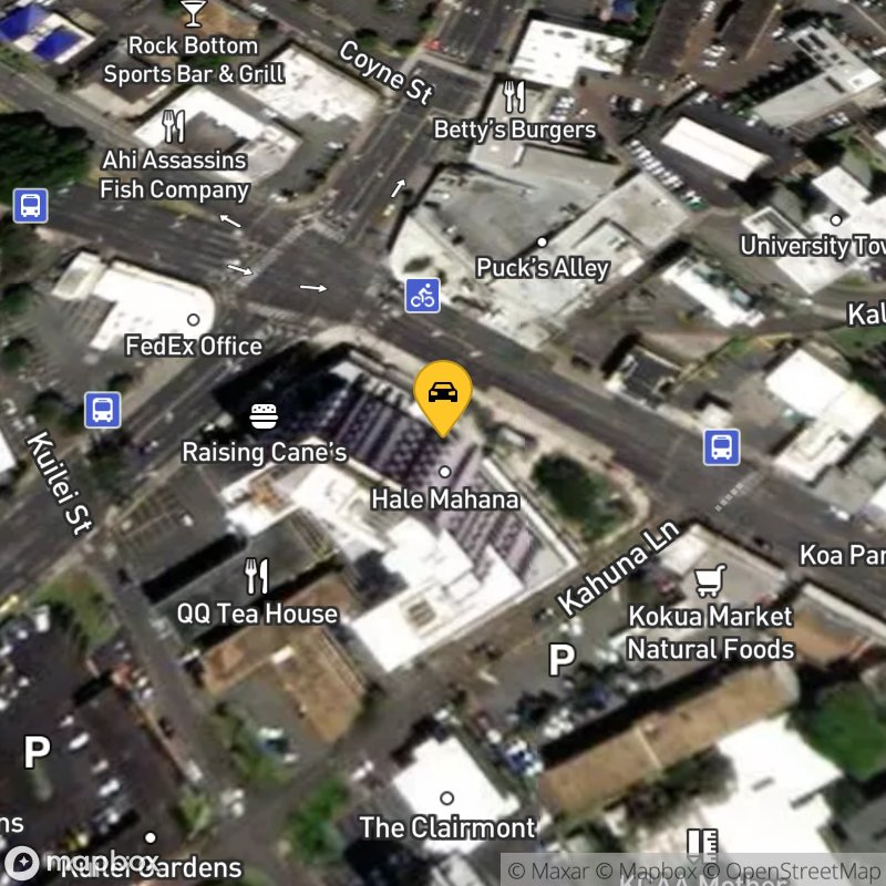 Satellite Map of the vehicle located at 2615 South King St