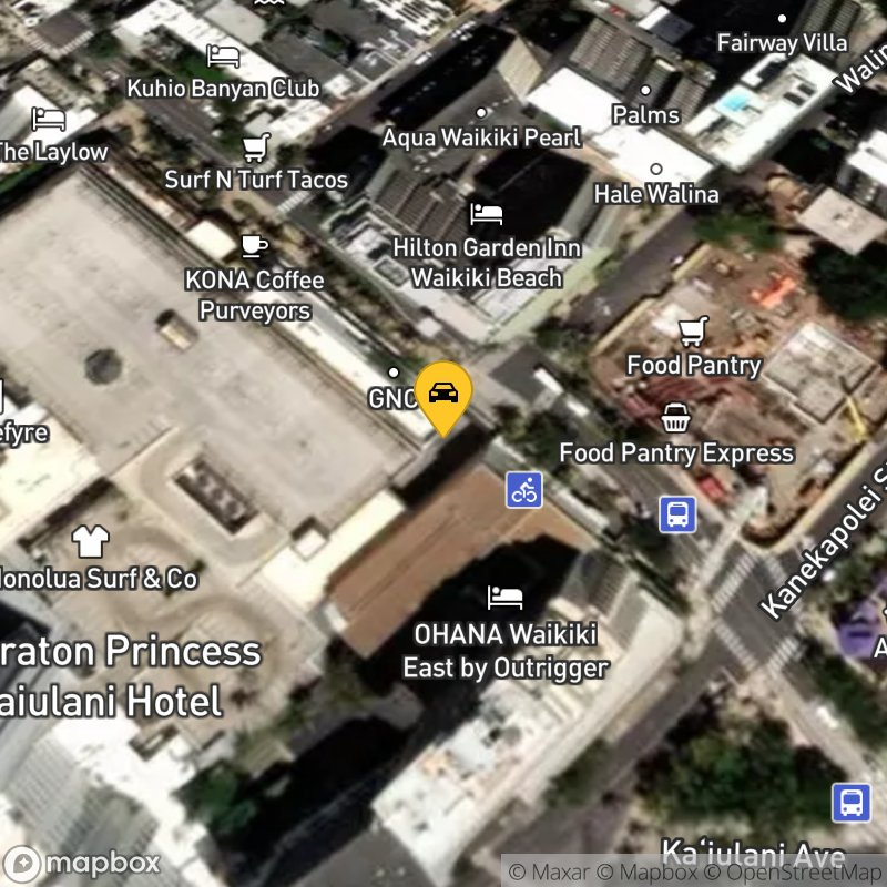 Satellite Map of the vehicle located at 2330 Kalakaua Ave