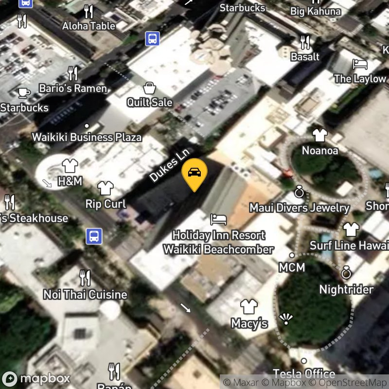 Satellite Map of the vehicle located at 2300 Kalakaua Ave
