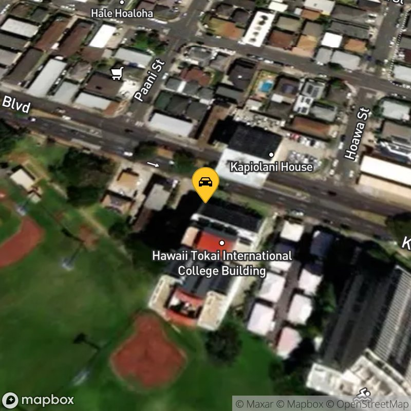 Satellite Map of the vehicle located at 2241 Kapiolani Blvd
