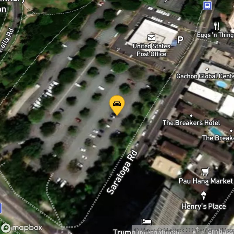 Satellite Map of the vehicle located at 2181 Kalakaua Ave