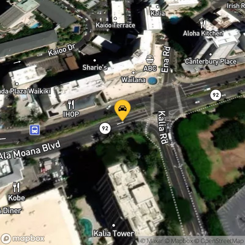 Satellite Map of the vehicle located at 1777 Ala Moana Blvd