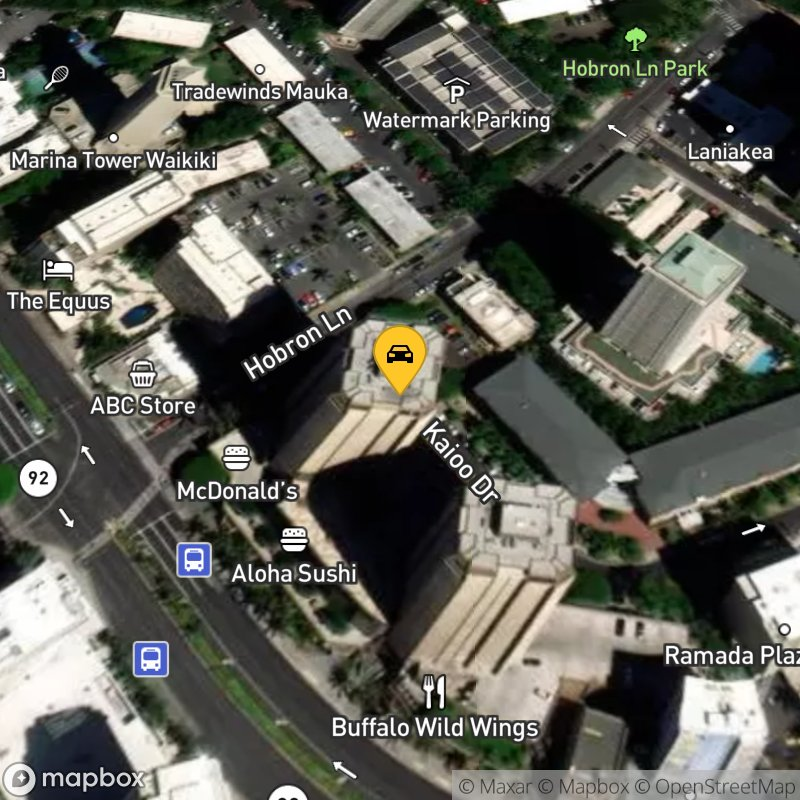 Satellite Map of the vehicle located at 1778 Ala Moana Blvd