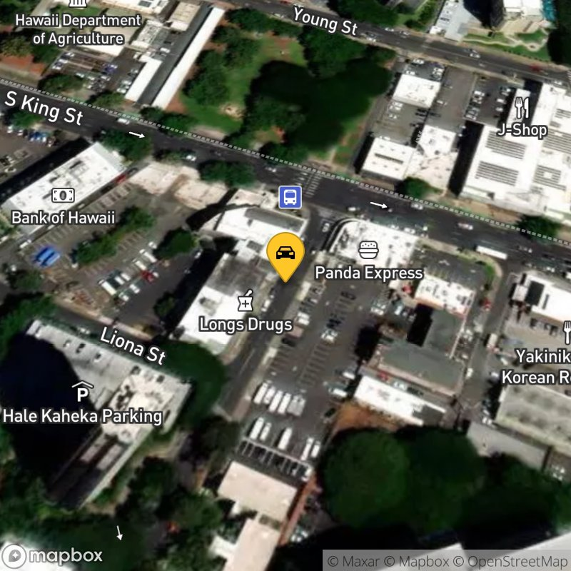 Satellite Map of the vehicle located at 964 Kaheka Street