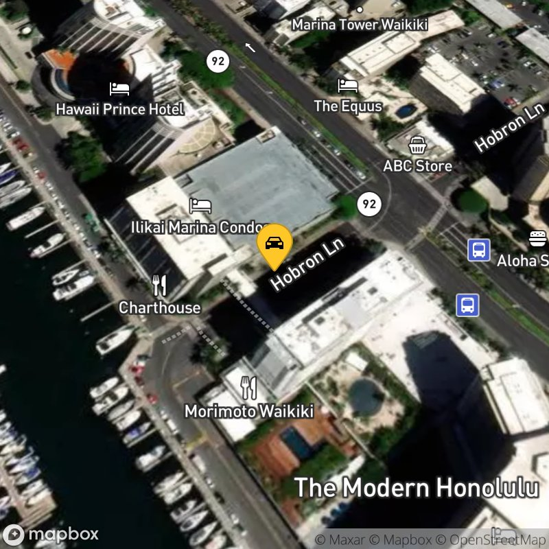 Satellite Map of the vehicle located at 1785 Ala Moana Blvd