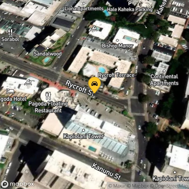 Satellite Map of the vehicle located at 1571 Rycroft St
