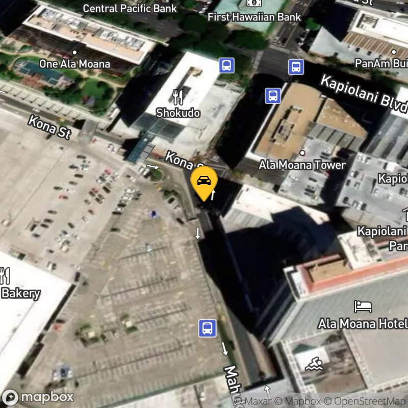 Satellite Map of the vehicle located at 1550 Kona Street