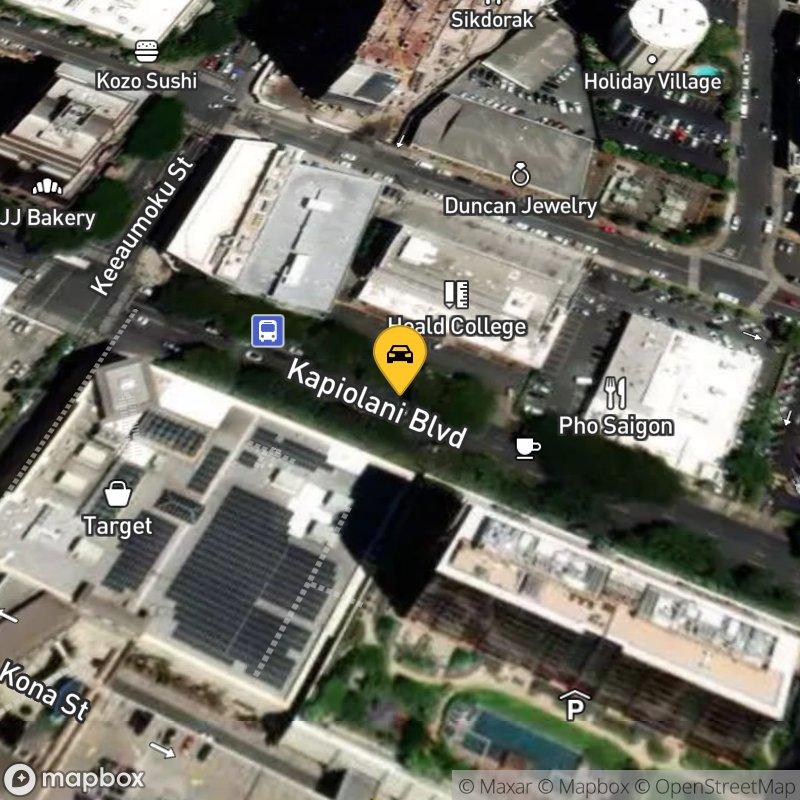 Satellite Map of the vehicle located at 1500 Kapiolani Blvd