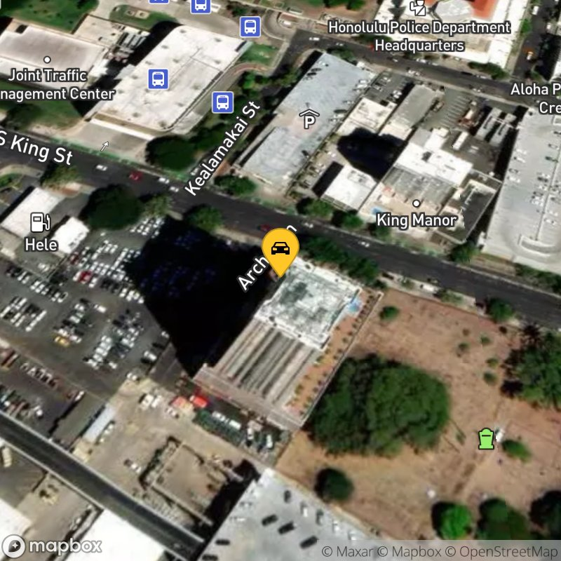 Satellite Map of the vehicle located at 888 South King St