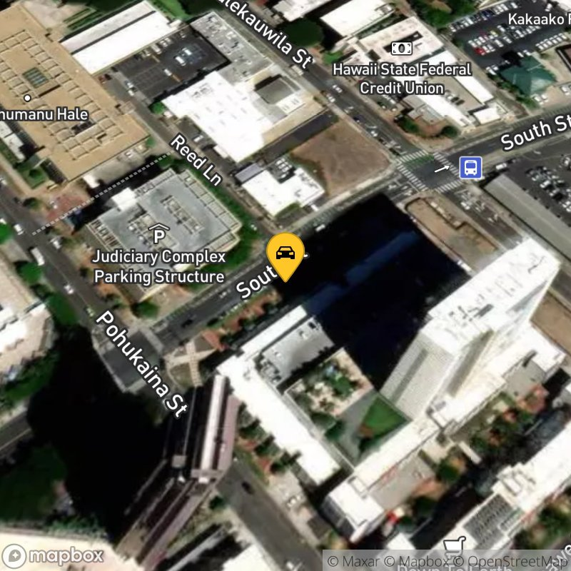 Satellite Map of the vehicle located at 555 South St