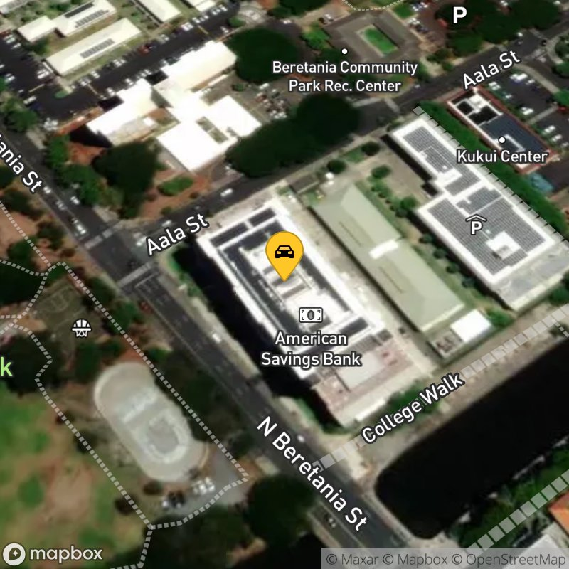 Satellite Map of the vehicle located at 300 N Beretania St