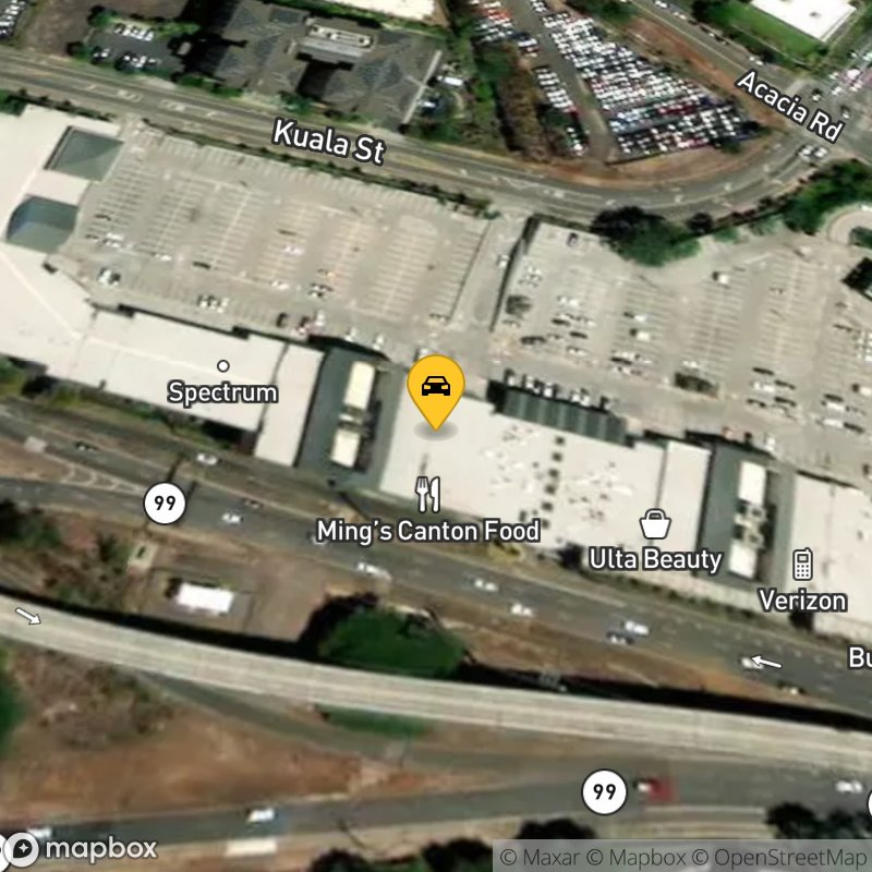 Satellite Map of the vehicle located at 1000 Kamehameha Hwy