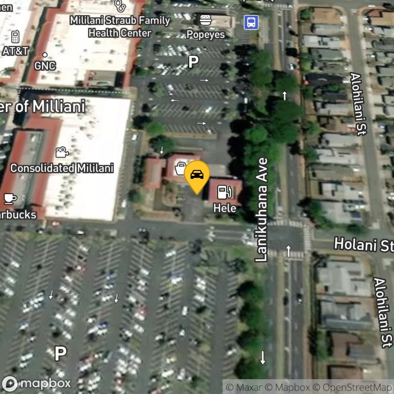 Satellite Map of the vehicle located at 96-614 Lanikuhana Ave