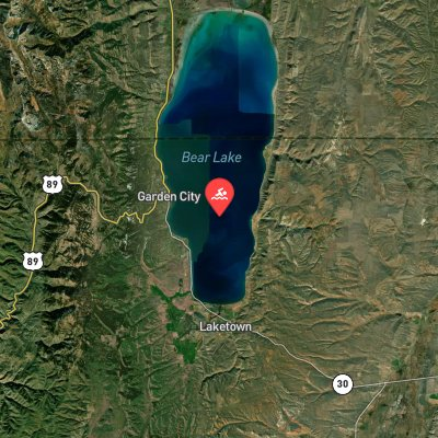 Bear Lake Monster Swim route