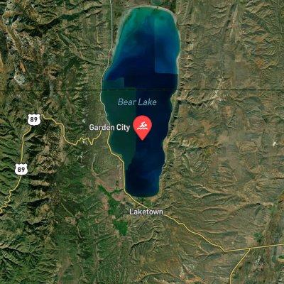 Bear Lake Monster Swim route