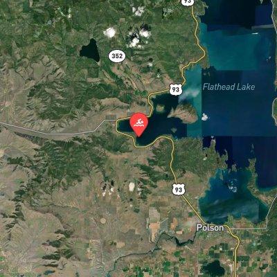 Flathead Lake 10K route