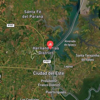 Maratón Hernandarias-Paraná route